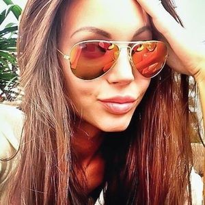 Accessories - 🔥 Flame Mirrored Gold Frame Aviator Sunglasses